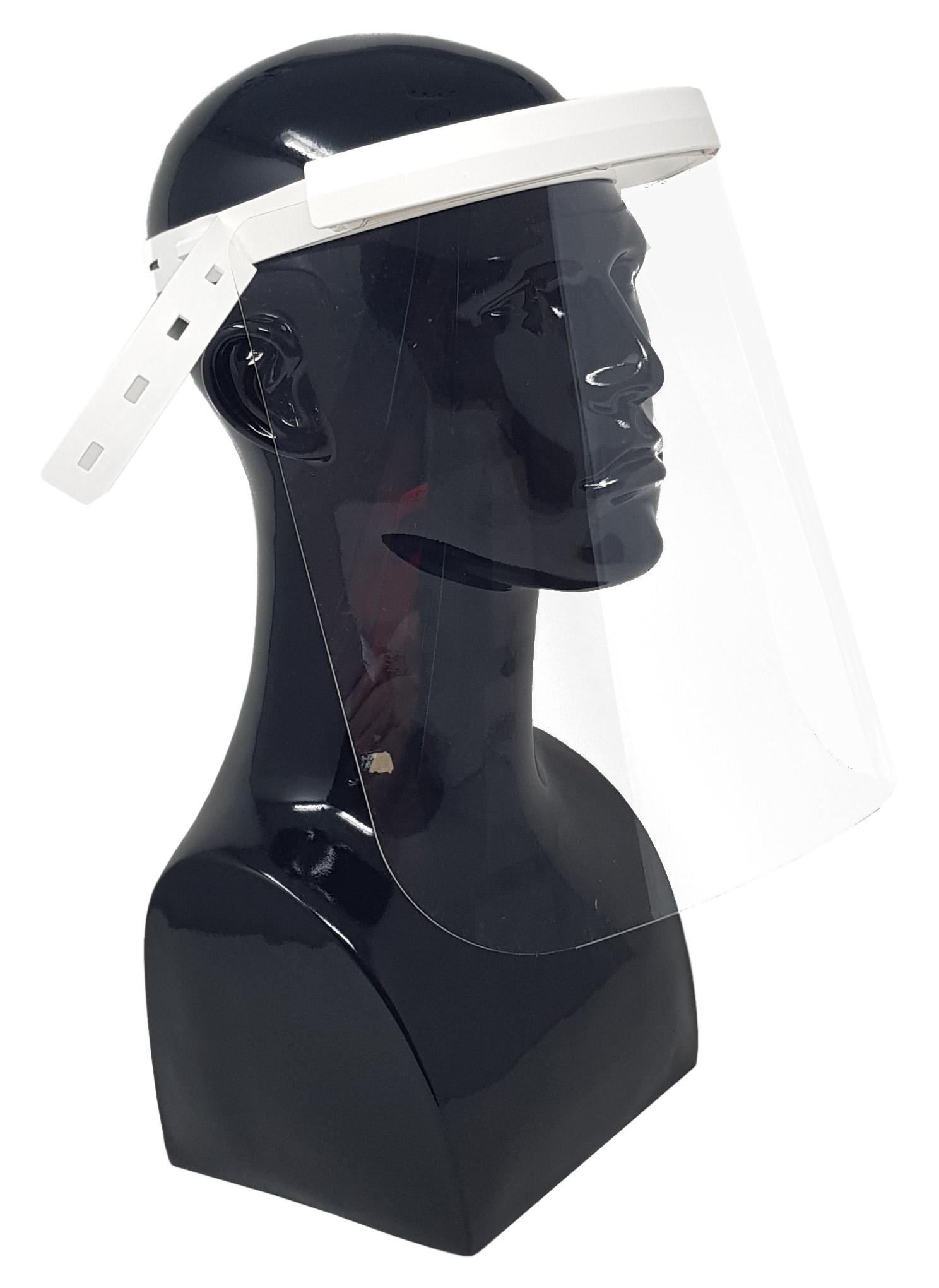 Gesichtsschutz- / Spuckschutzvisier 240mm Visier - Medical White